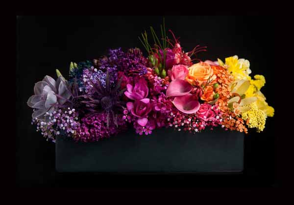 BLOOM Rainbow Flower Centerpiece