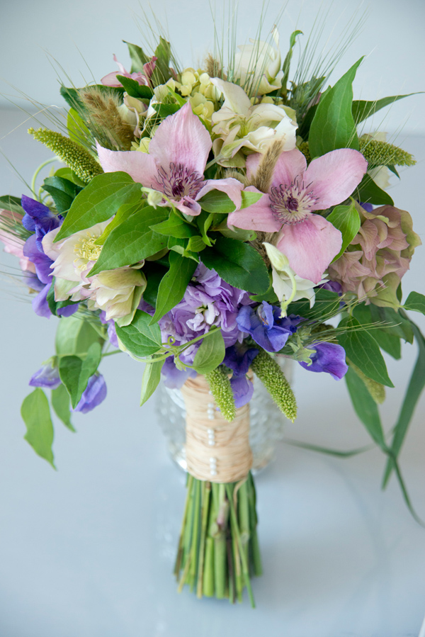 Bloom Denver, Bridal bouquet with clematis
