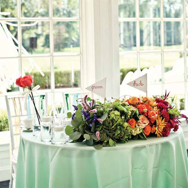 Parsonage Events - rainbow colored flowers