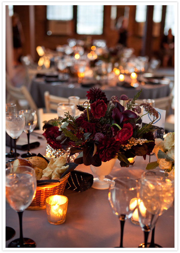 Wedding wednesday plum burgundy flower inspiration