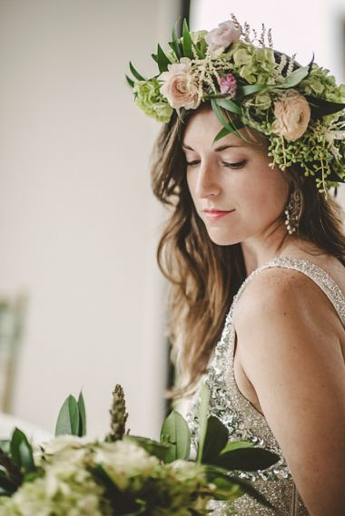 Maxit Flower Design, Joseph West Photography, Pink and White Flower Crown