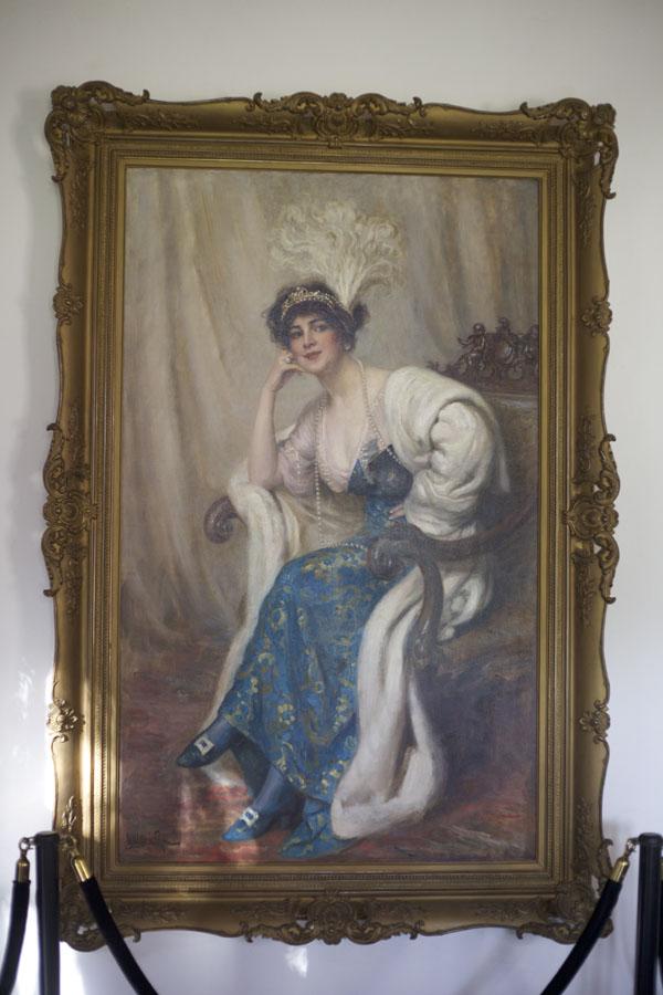Ganna Walska painting at Lotusland