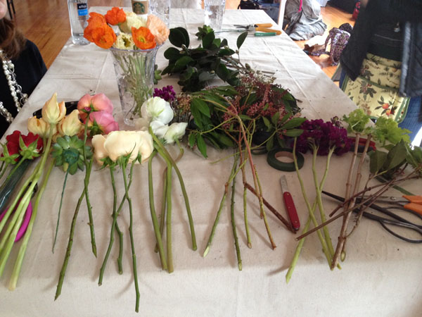 Alicia Schwede's Floral design Workshop in Seattle