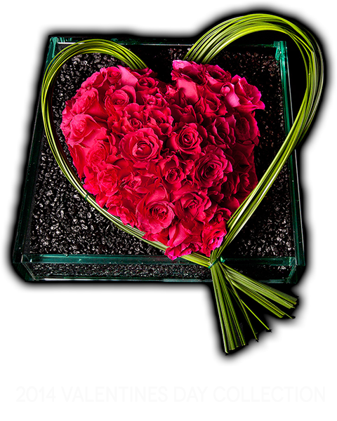 Mahir Florals, Heart shaped rose flower arrangement