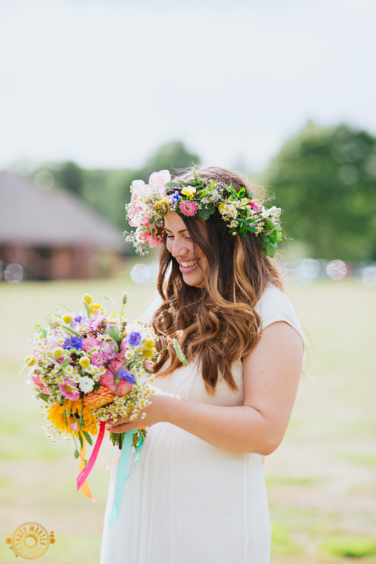 Jay Archer Floral Design, multi colored bridal bouquet