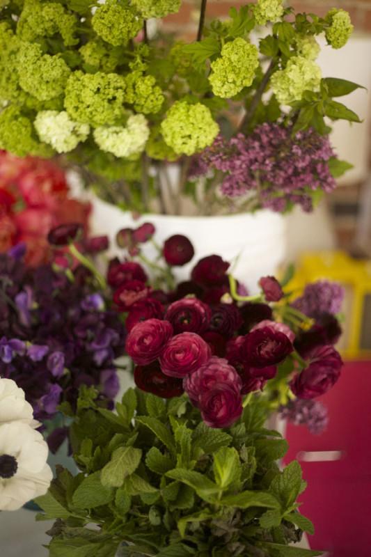 Fresh Cut Flowers from Florabundance - Viburnum, Liliacs, Ranunculus, Mint, Sweetpeas, Anemones