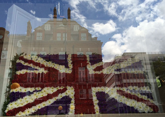 Chelsea In Bloom - The British Flag made of flowers