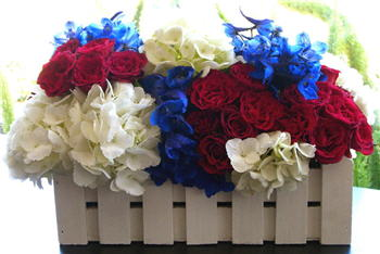 Flower Duet - 4th of July Floral Design