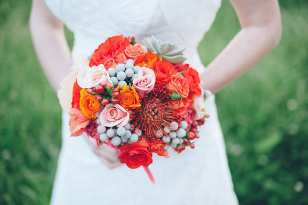 Green Goddess flower studio - pin cushion bouquet