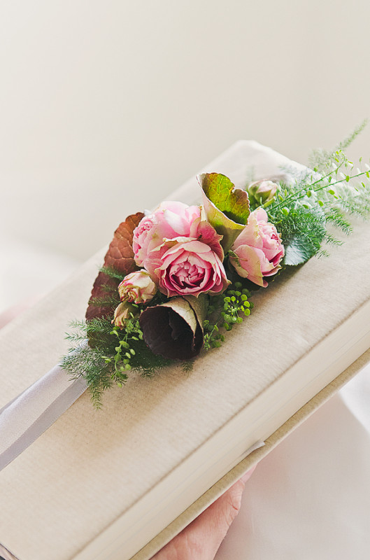 Paeony Floral Design - Pink Corsage for bible