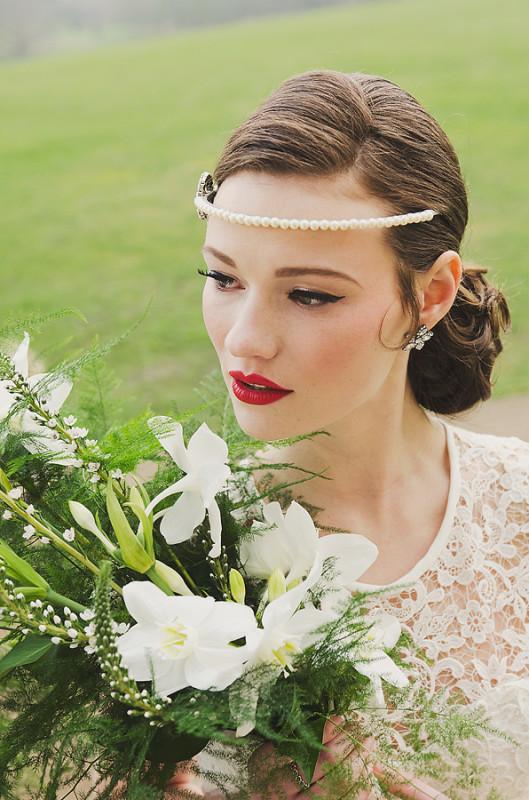 Paeony Floral Design - White bridal bouquet