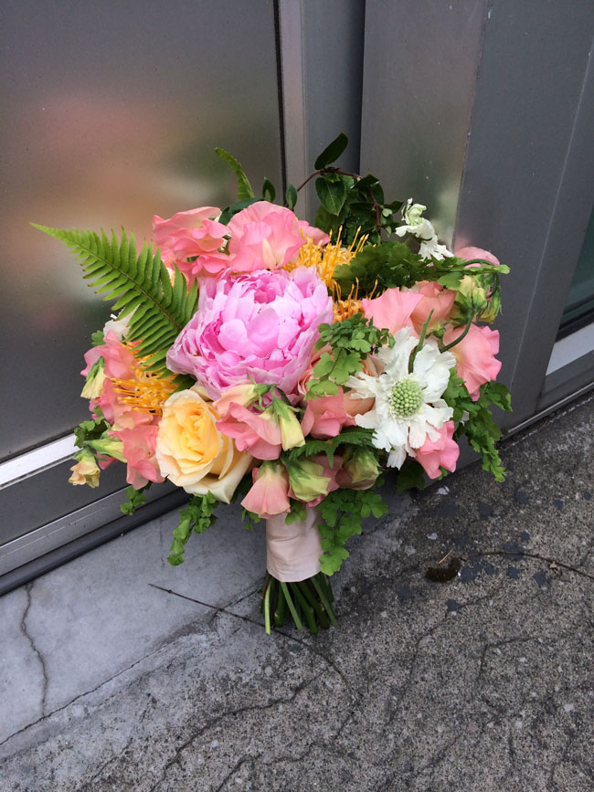 Bella Fiori - bridal bouquet of sherbert colors