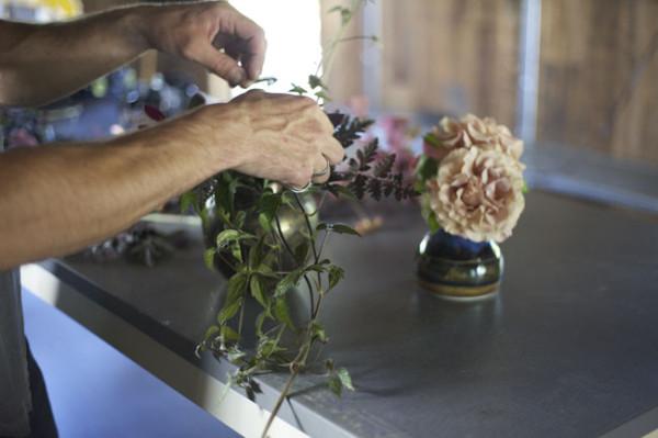 Max Gill Designing a Flower Arrangement
