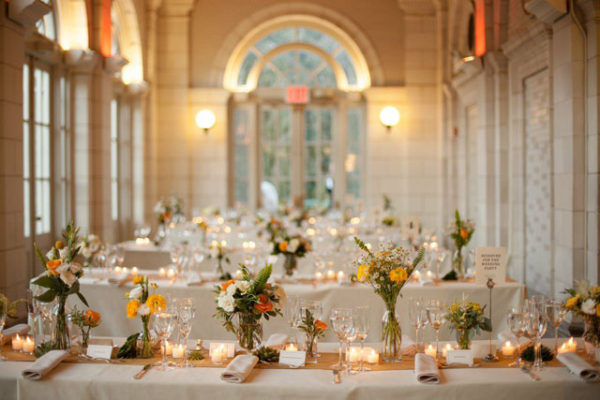 Lelia Marie Photography, The Arrangement NYC, Event setup with yellow and white flowers