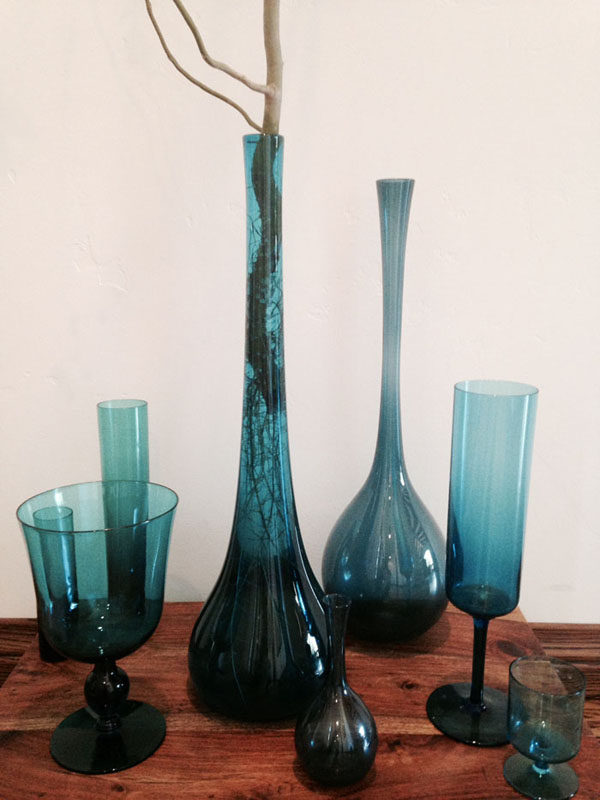 Margaret Joan Florals - Blue Glass Collection