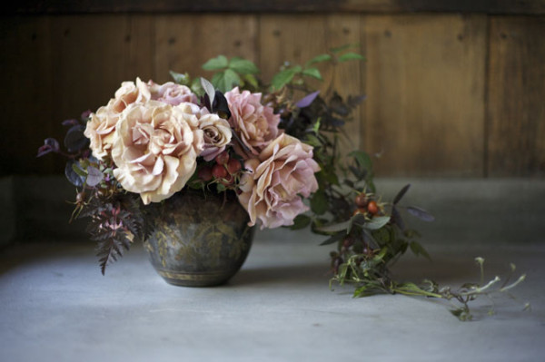 Max Gill Floral Design, arrangement with Koko Loko Garden Rose, Berkeley California