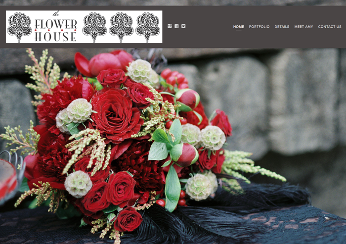 Screen Shot of The Flower House Denver Website