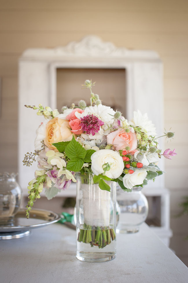 The Full Bloom Idaho - bridal bouquet of white, pink and yellow flowers