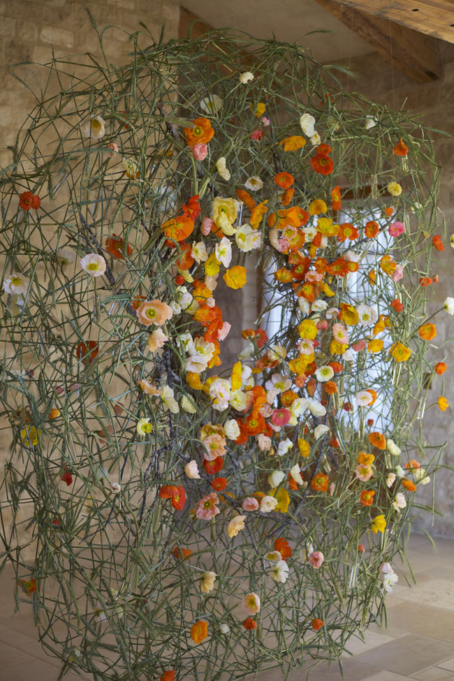 Florabundance Design Days & Chapel Designers Conference - Joe Massie's Poppy Installation