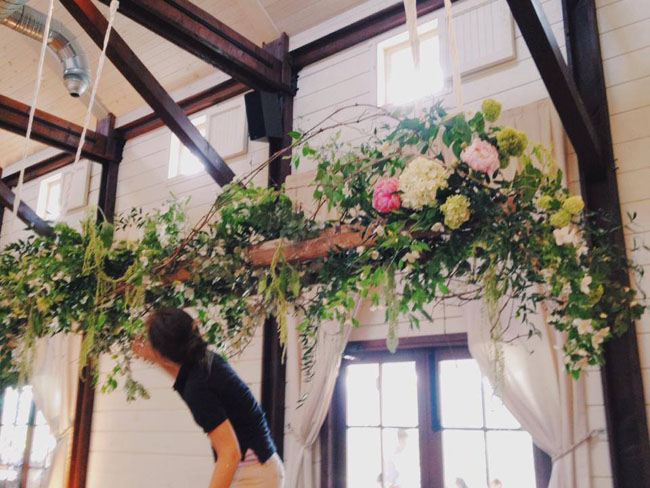 Southern Blooms by Pat's Floral Designs - Floral Chandelier