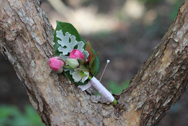 Erika's Fresh Flowers - pink boutonniere