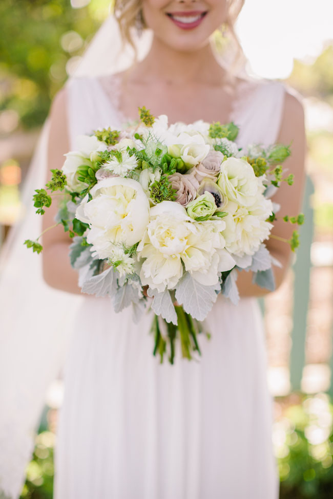 The English Garden LA - green and white bridal bouquet