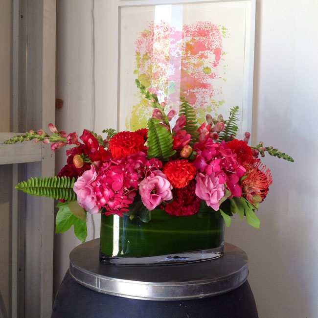 The English Garden LA - Hot Pink Flower Arrangement