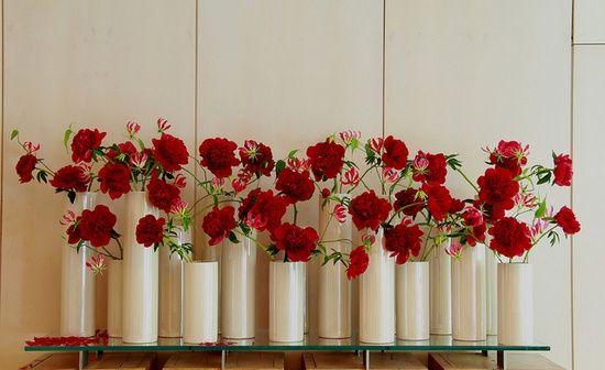 Ken Marten - red peonies & gloriosa