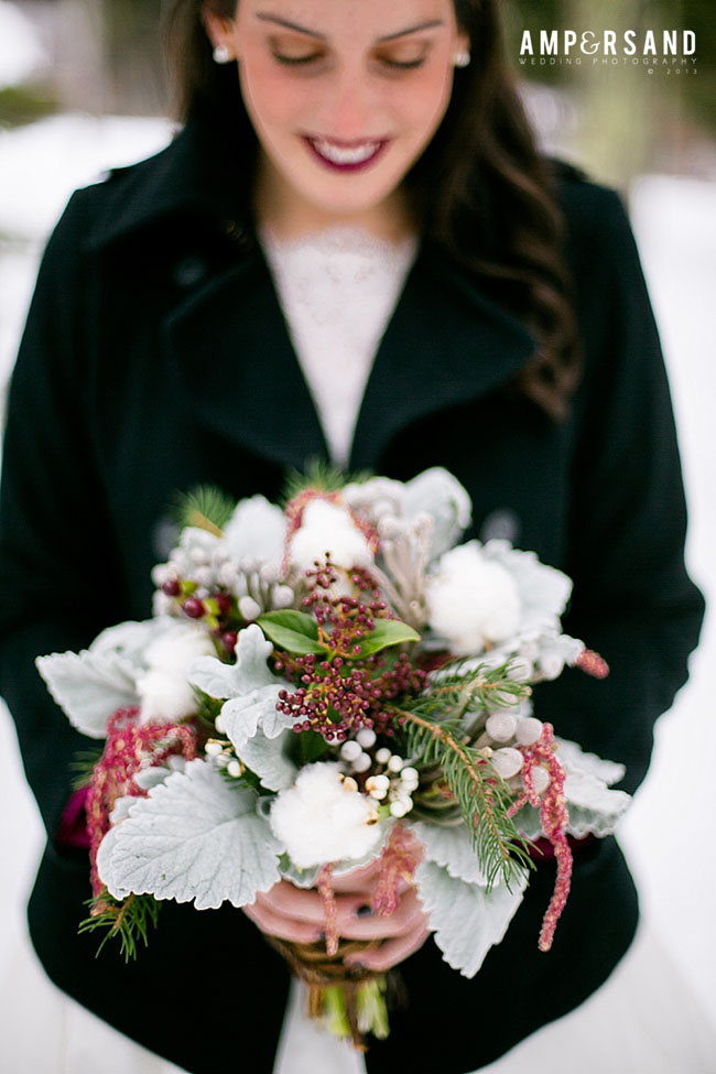 Village Green Florist - Winter Bridal Bouquet