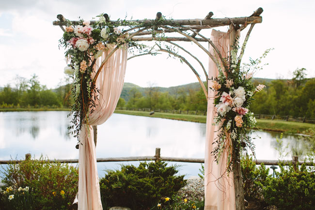 village green florist - ceremony arch
