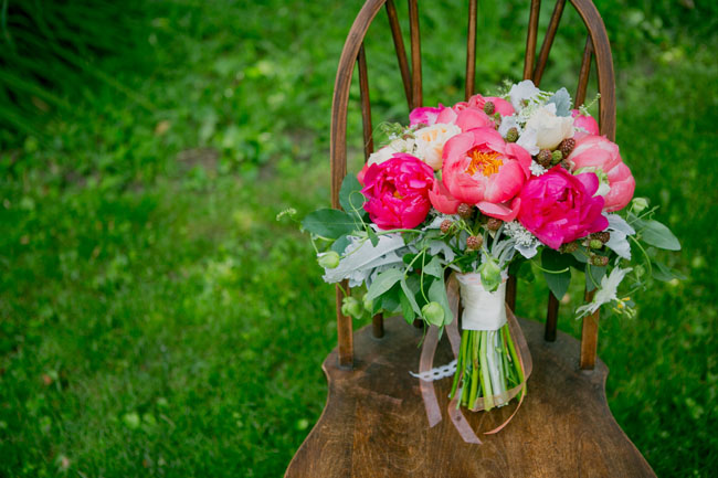 village green florist - pink peony bouquet