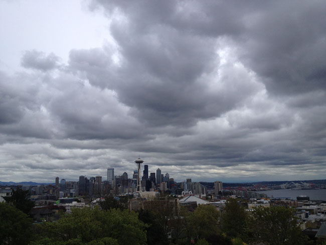 Overlooking Seattle