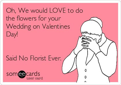 Valentine's Day card for a florist