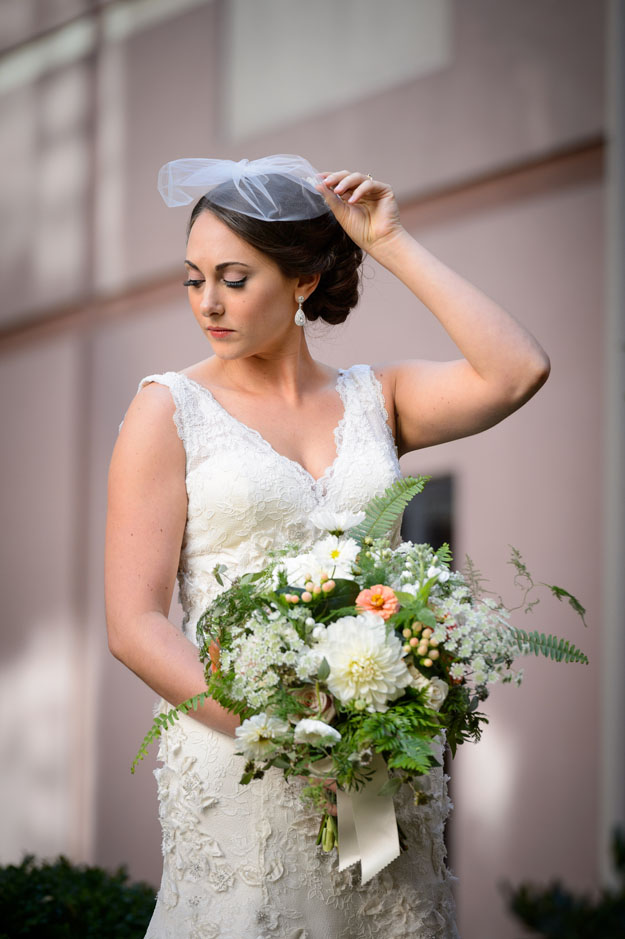 Crimson and Clover Floral Design - white and green bridal bouquet