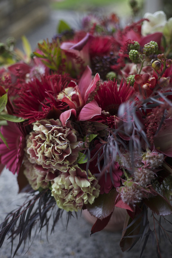 Bella Fiori Designs - Marsala flower centerpiece