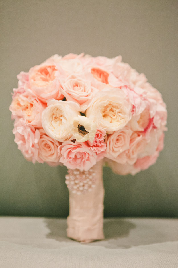 Posh Peony - Bridal bouquet with pink roses