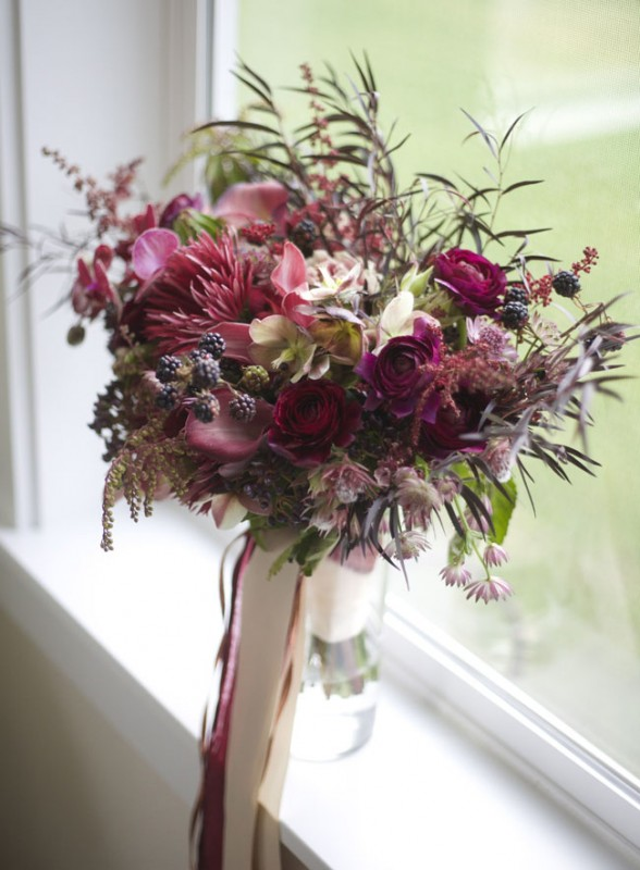 Bella Fiori - Marsala Bridal Bouquet