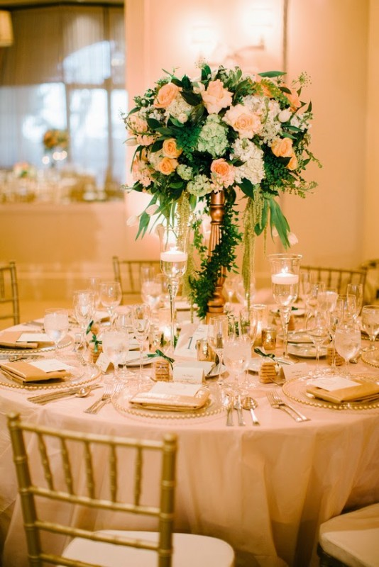 Heavenly Blooms - elevated centerpiece