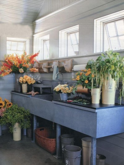 A florist's sink from the September 2007 issue of Martha Stewart Living