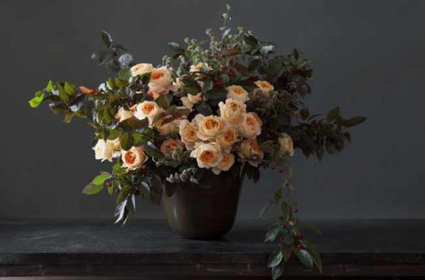 Lewis Miller Designs - Peach Rose Arrangement