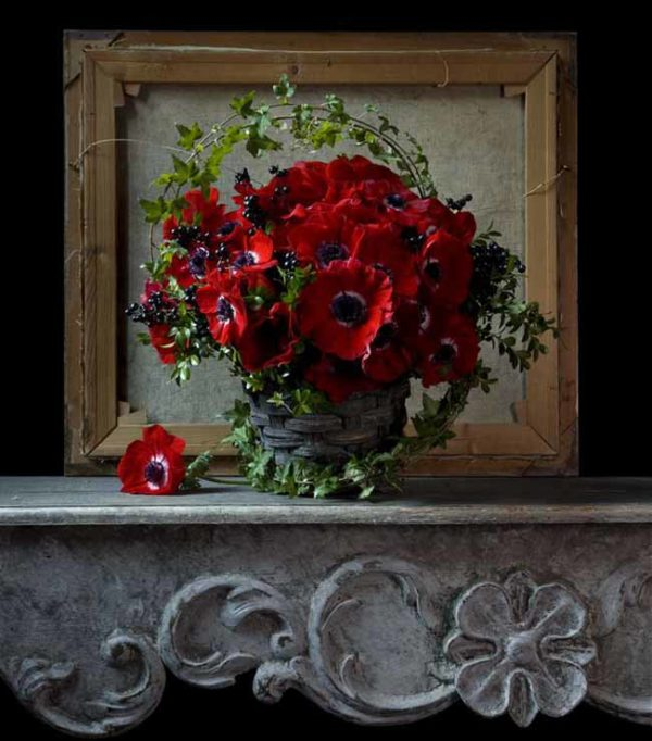 Lewis Miller Designs - Red anemone arrangement
