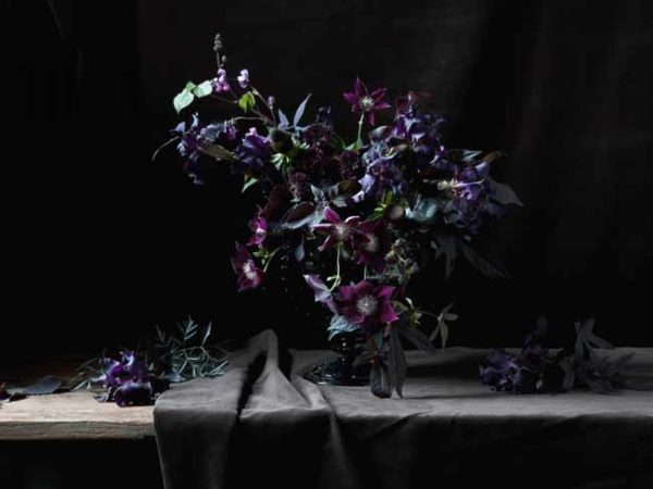 Lewis Miller - purple flower arrangement