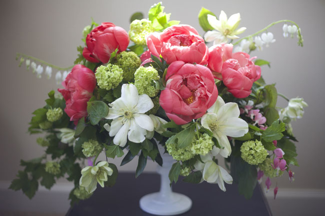 Workshops — Floral Centerpieces featuring PEONIES!