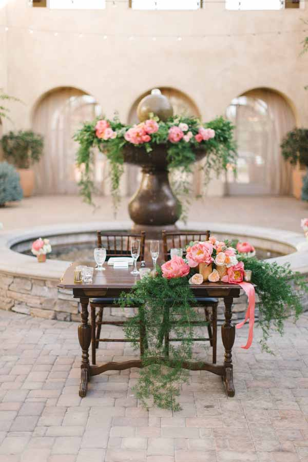 Pixies Petals, Megan Keean Photograpy, fountain filled with flowers