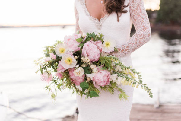 Bella Fiori Floral Design Washington State - Pink Peony and White Poppy Bouquet