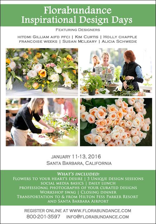 Florabundance Inspirational Design Days 2016