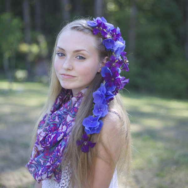 Maddie Purple Flowers