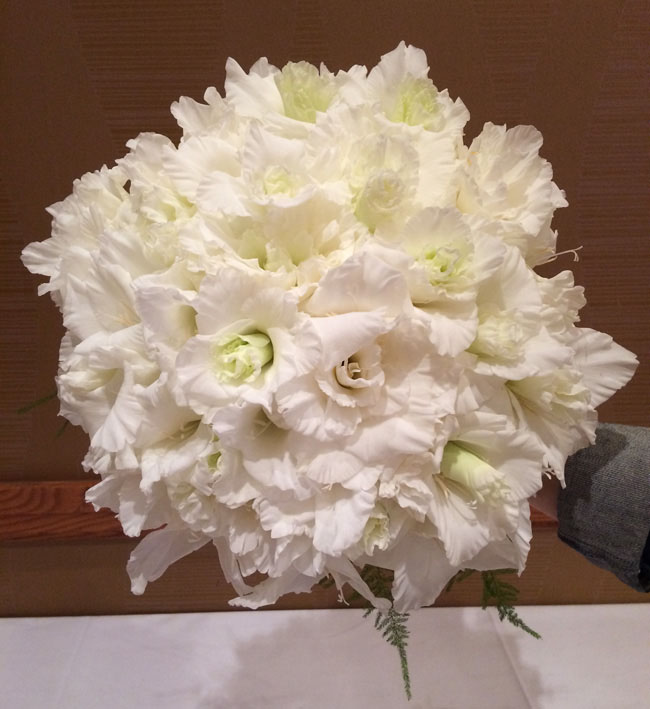 AIFD Symposium Denver 2015 -  glamelia gladiolus bouquet