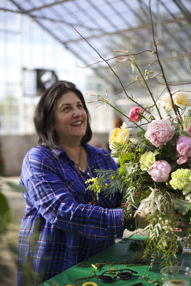Florabundance Design Days 2016 - Mindy Rosenberg with her floral arrangement