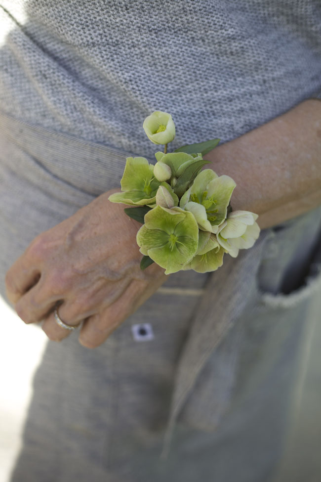 Florabundance Design Days 2016 -  Green Hellebore corsage designed by Robin Wood Flowers